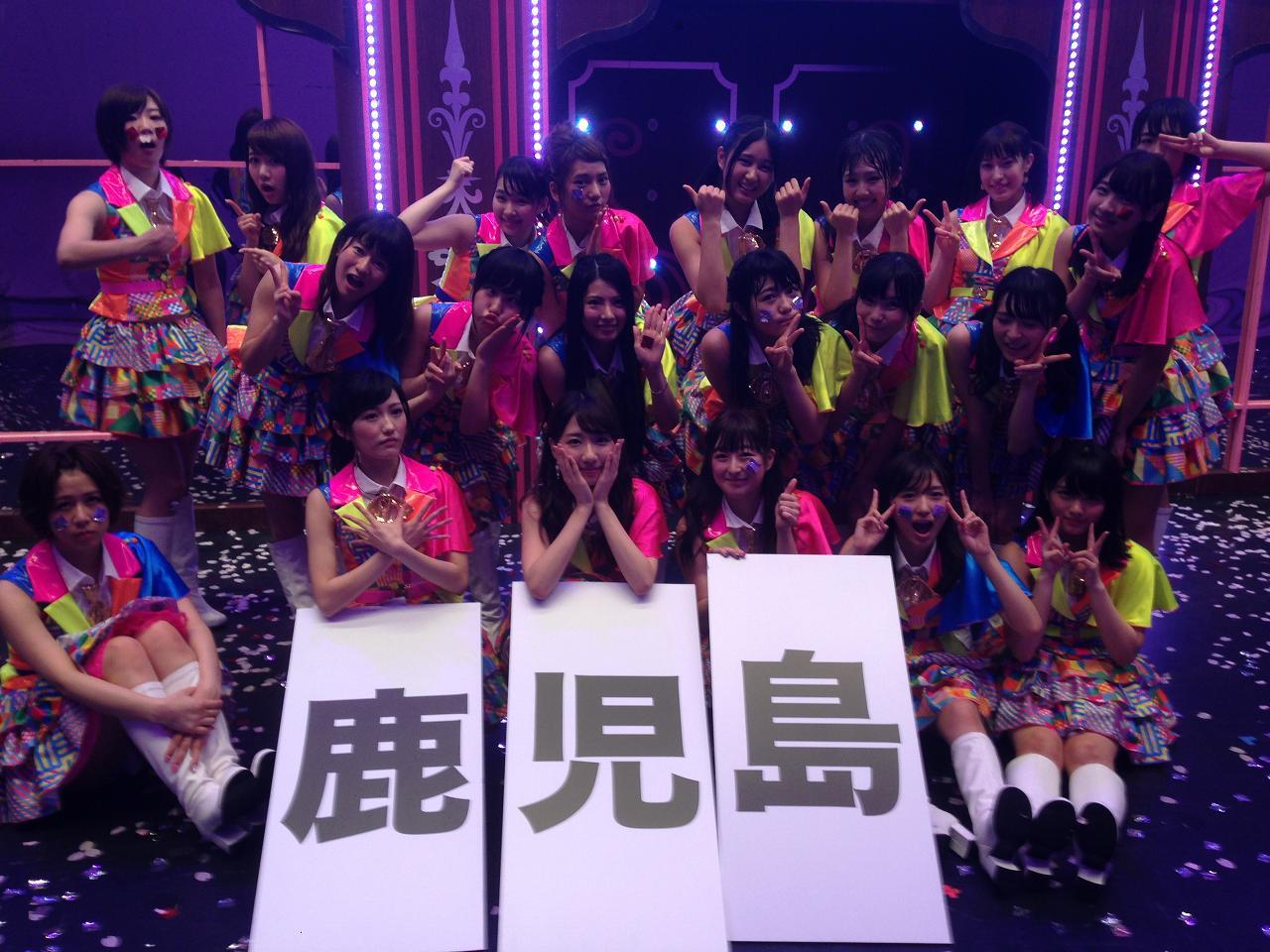 AKB48長崎公演のメンバー集合写真、渡辺麻友