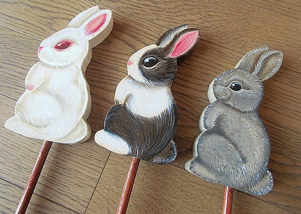 ウサギ三羽できあがり