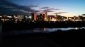 復興住宅7Fから撮影で広瀬川の夕焼け