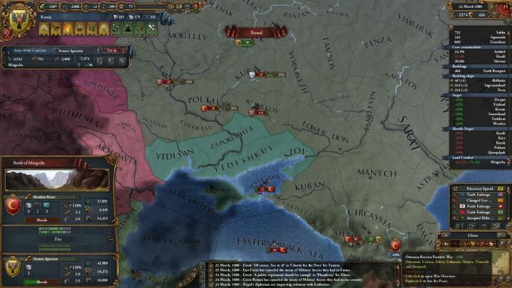 オスマン帝国率いる包囲網との戦い(1688年3月)