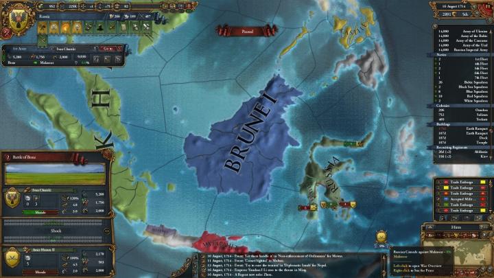 1714年の東南アジアとマカッサル遠征