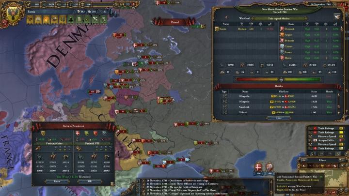大包囲網戦争、スモレンスク会戦時(1788年11月)