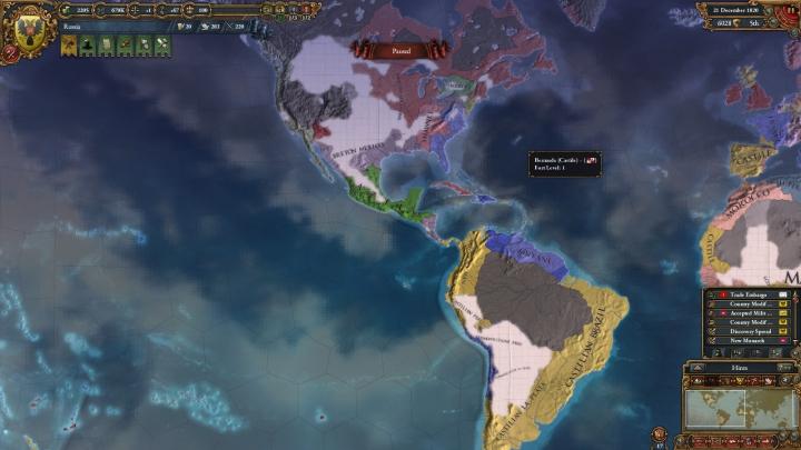 1820年のアメリカ大陸