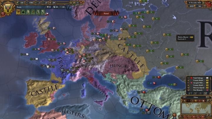 1820年のヨーロッパ