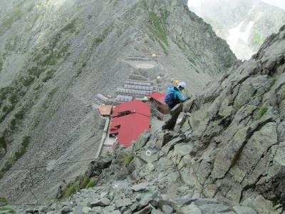 山荘への下り