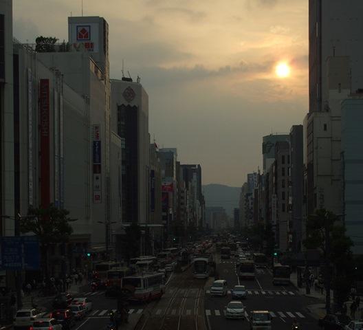 DSCF2314 夕暮れの広島 W