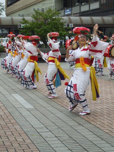 7月13日 盛岡駅前さんさ踊り W