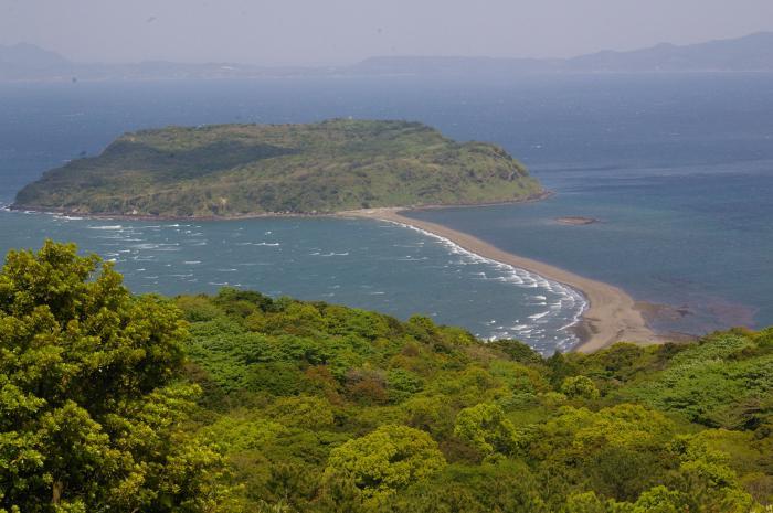魚見岳より見た知林ケ島