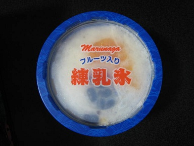 フルーツ入り練乳氷