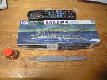 20130612アオシマ那珂パッケージと船体