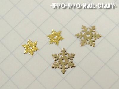 メタルパーツ 雪の結晶