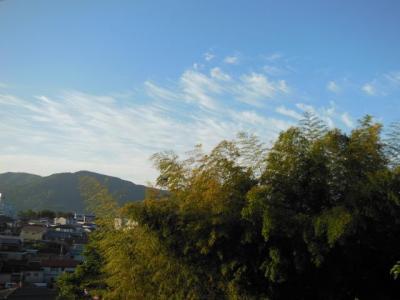5月31日早朝の空