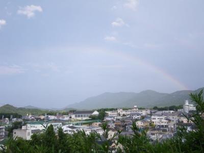 七夕の日の虹