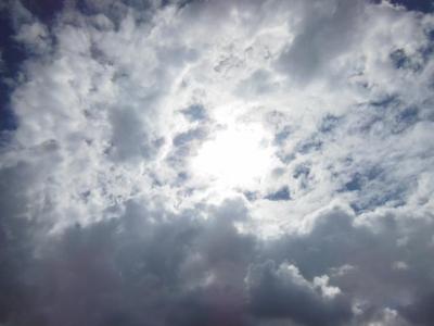 雲の向こうのお日様