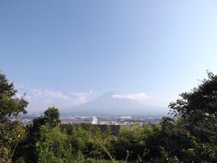 富士宮からみた富士