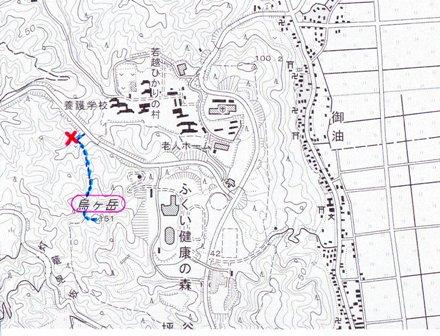 烏ヶ岳城位置図