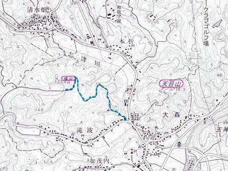 清水畑城位置図