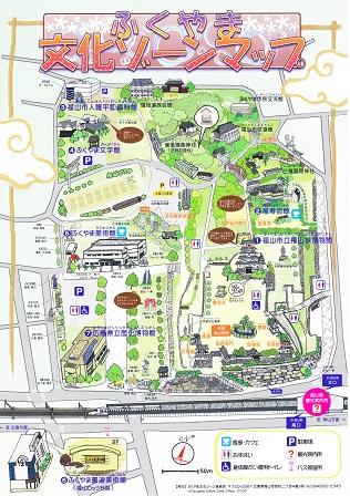 2福山城跡案内図