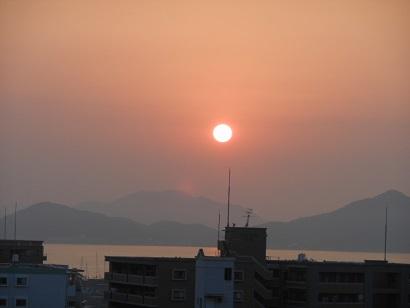 13日夕陽