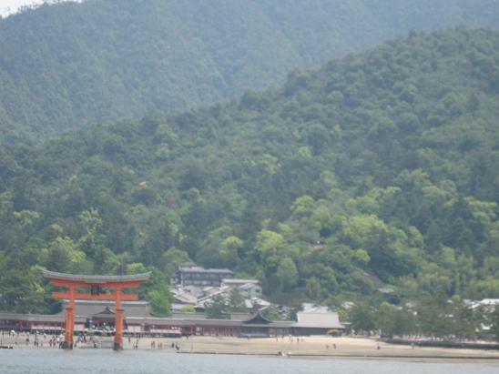 2013広島旅行:JR西日本宮島フェリー 大鳥居