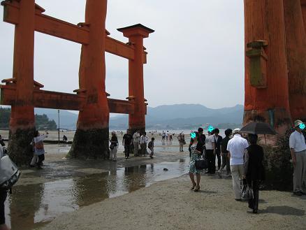 2013広島旅行:宮島 大鳥居④