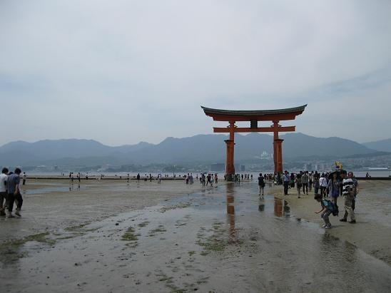 2013広島旅行:宮島 大鳥居⑥