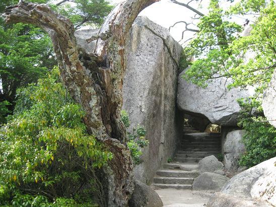 2013広島旅行:宮島 弥山 くぐり岩
