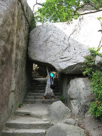 2013広島旅行:宮島 弥山 くぐり岩②