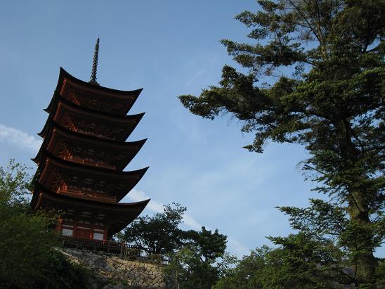 2013広島旅行:宮島 五重塔