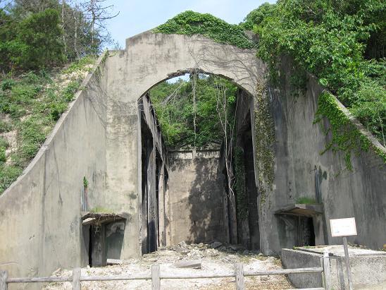 2013広島旅行 うさぎ島 長浦毒ガス貯蔵庫跡