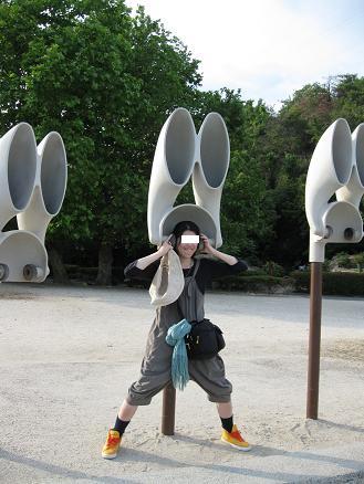 2013広島旅行 うさぎ島 うさぎ耳