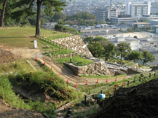 鳥取旅行:鳥取城跡 工事中