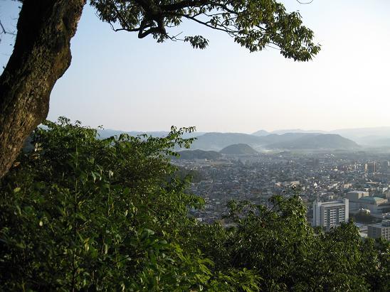 鳥取旅行:鳥取城跡 5合目 眺望