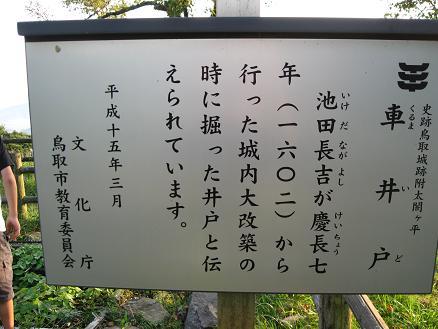鳥取旅行:鳥取城跡 車井戸