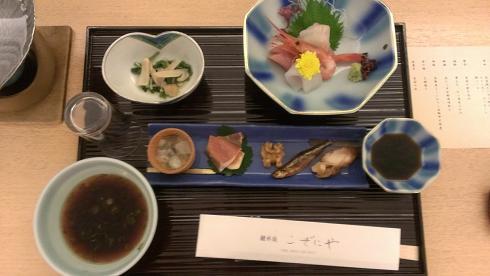 鳥取旅行:こぜにや 夕食