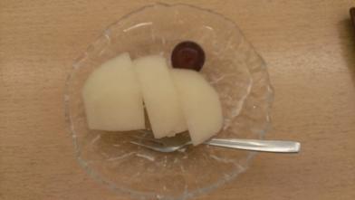 鳥取旅行:こぜにや 夕食 梨