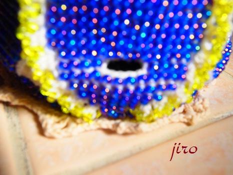 ポットドレス(鉢カバー)- クルミ葉4