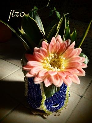 ポットドレス(鉢カバー)- クルミ葉5