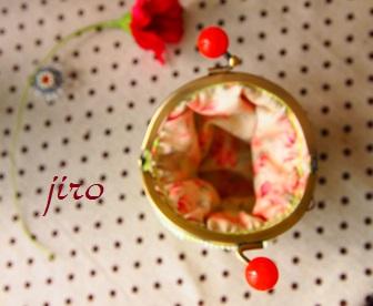 ビーズがま口-連立ハート丸型4