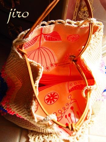 ビーズ編みバッグ- ファンシーポーチ (2)