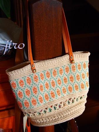 ビーズ編みバッグ-フォークロア革ひもショルダー (9)