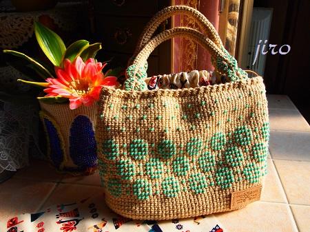 ビーズ編みバッグ- lunch bag (2)