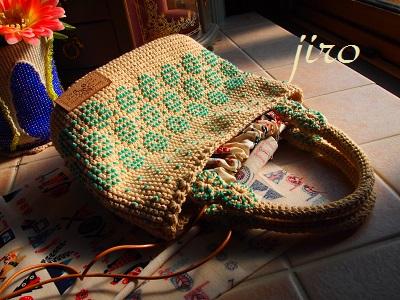ビーズ編みバッグ- lunch bag (5)