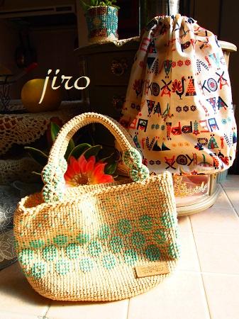 ビーズ編みバッグ- lunch bag (6)