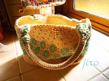 ビーズ編みバッグ- lunch bag (7)