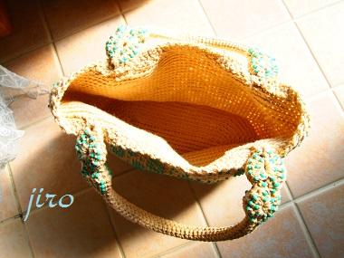 ビーズ編みバッグ- lunch bag (8)