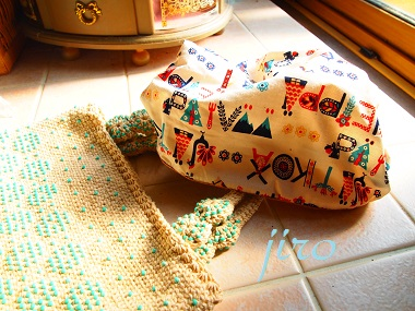 ビーズ編みバッグ- lunch bag (10)