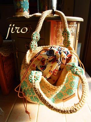 ビーズ編みバッグ- lunch bag2
