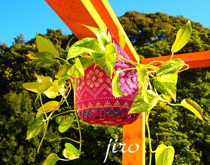 ポットドレス(鉢カバー)- a foliage plant net (3)
