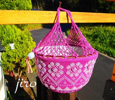 ポットドレス(鉢カバー)- a foliage plant net (18)
